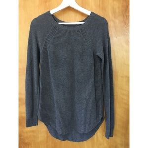 Athleta Grey Merino Wool Sweater Size M